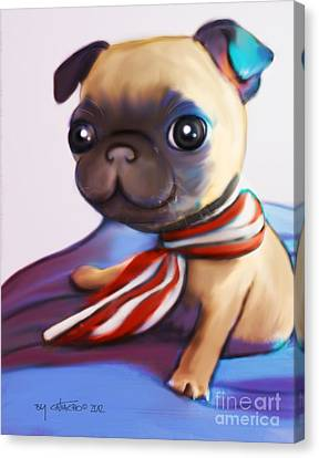 Buddy The Pug Canvas Print by Catia Cho