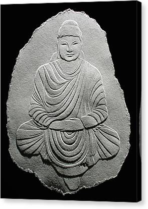 Budha - Fingernail Relief Drawing Canvas Print