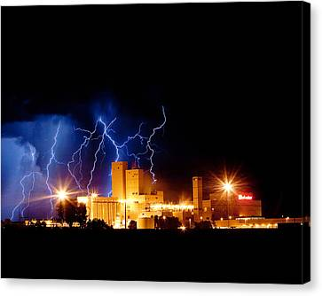 The Lightning Man Canvas Print - Budweiser Lightning Thunderstorm Moving Out Crop by James BO  Insogna