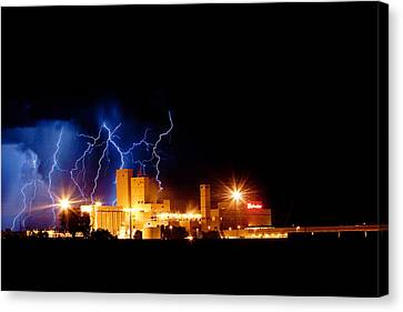 Budweiser Lightning Thunderstorm Moving Out Canvas Print by James BO  Insogna
