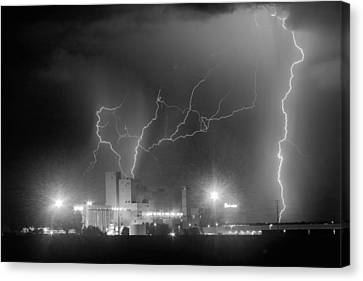 The Lightning Man Canvas Print - Budweiser Power Bw by James BO  Insogna