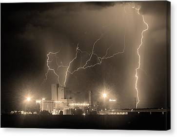 The Lightning Man Canvas Print - Budweiser Power Bw Sepia by James BO  Insogna