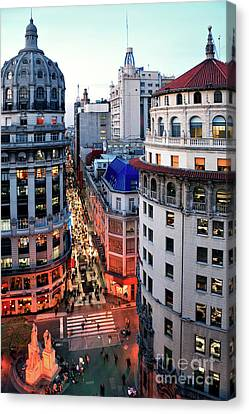 Canvas Print featuring the photograph Buenos Aires Street I by Bernardo Galmarini