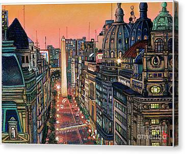 Buenos Aires Twilight Canvas Print