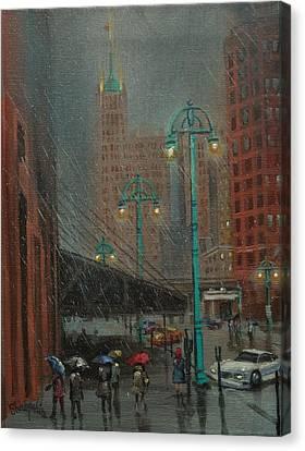 Buffalo And Broadway Canvas Print