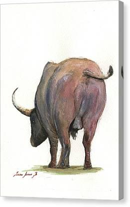 Buffalo Back Canvas Print by Juan Bosco