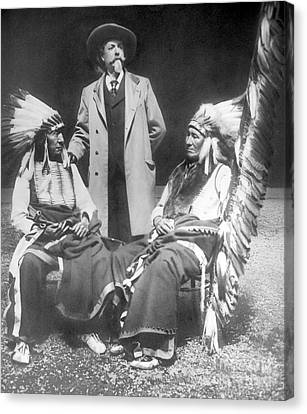 Buffalo Bill With Red Cloud And American Horse Canvas Print