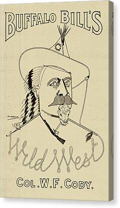 Buffalo Bill's Wild West - American History Canvas Print by War Is Hell Store