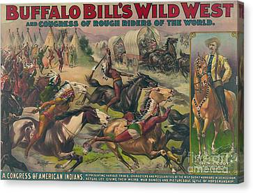 Buffalo Bills Wild West, American Canvas Print by Science Source