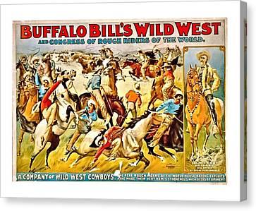 Buffalo Bill's Wild West Canvas Print by John Feiser