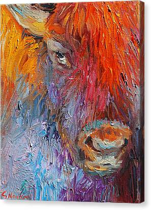 Buffalo Bison Wild Life Oil Painting Print Canvas Print by Svetlana Novikova