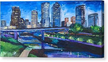 Buffalo Blue Canvas Print by Lauren Luna