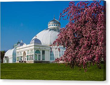 Canvas Print featuring the photograph Buffalo Botanical Gardens North Lawns by Don Nieman