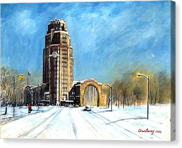 Buffalo Central Terminal Canvas Print by John Countway