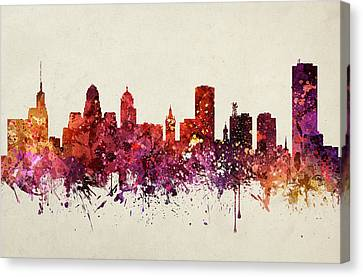 Buffalo Cityscape 09 Canvas Print by Aged Pixel