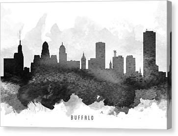 Buffalo New York Canvas Print - Buffalo Cityscape 11 by Aged Pixel