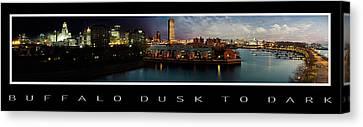 Buffalo New York Canvas Print - Buffalo Dusk To Dark 2 by Peter Chilelli