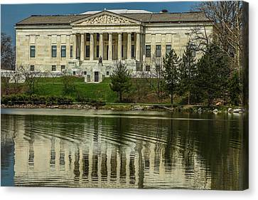 Canvas Print featuring the photograph Buffalo Historical Society And Library by Don Nieman