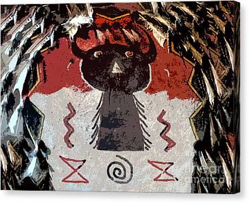 Buffalo Man Canvas Print by David Lee Thompson