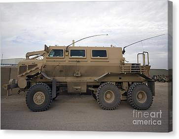 Iraq Canvas Print - Buffalo Mine Protected Vehicle by Terry Moore