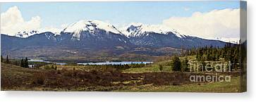 Buffalo Mountain And Red Peak - Digital Paint Canvas Print