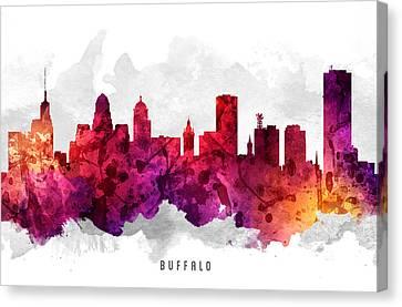 Buffalo New York Canvas Print - Buffalo New York Cityscape 14 by Aged Pixel