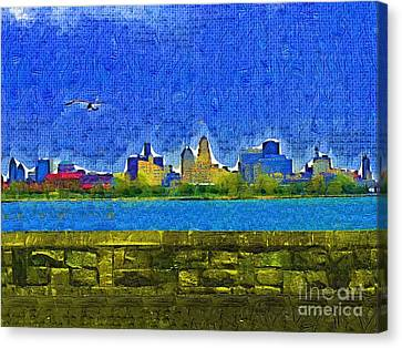 Buffalo Ny Skyline Canvas Print by Deborah MacQuarrie-Selib