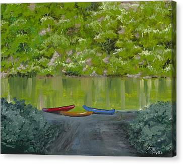 Buffalo River At Gilbert Landing Canvas Print by Cathy France