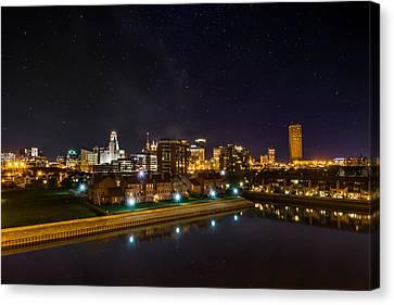 Buffalo Skyline Under The Stars Canvas Print