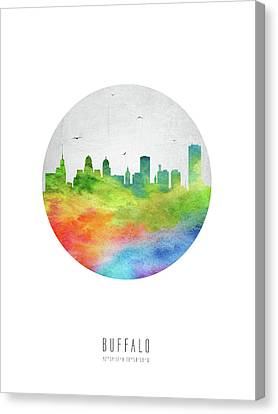 Buffalo Skyline Usnybu20 Canvas Print by Aged Pixel