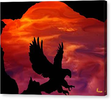 Buffalo Sunset Canvas Print by Will Logan