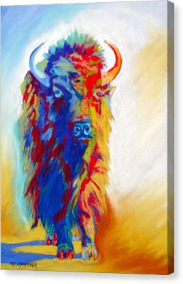 Canvas Print featuring the pastel Buffalo Two by Pat Crowther
