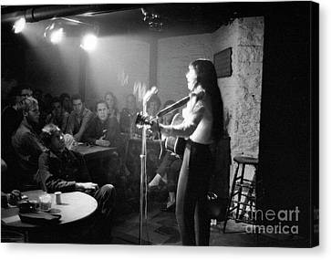 Buffy Sainte-marie At The Gaslight Cafe, 1964 Canvas Print by The Harrington Collection