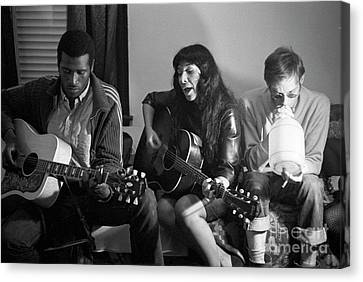 Buffy Sainte-marie, Taj Mahal, And Fritz Richmond Canvas Print by The Harrington Collection
