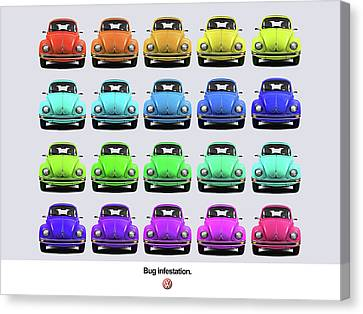 Beetle Canvas Print - Bug Infestation. by Mark Rogan