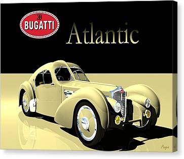Bugatti Atlantic Canvas Print by John Pangia