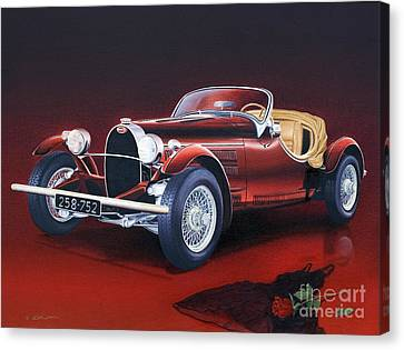 Bugatti. Italian Exotic Car Canvas Print