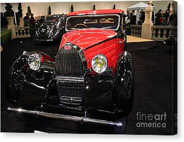 Bugatti Red . Front Angle Canvas Print by Wingsdomain Art and Photography