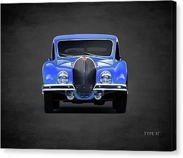 Bugatti Type 57 Canvas Print by Mark Rogan