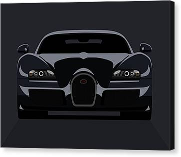 Horsepower Canvas Print - Bugatti Veyron Dark by Michael Tompsett
