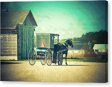 Canvas Print featuring the photograph Buggy Ride by Joel Witmeyer