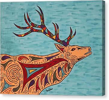 Bugle Boy Canvas Print by Susie WEBER