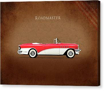 Buick Roadmaster 1955 Canvas Print by Mark Rogan