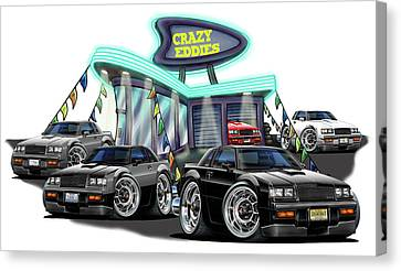 Buicks At The Dealership Canvas Print by Maddmax