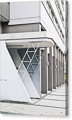 Brutalist Canvas Print - Buidling Exterior by Tom Gowanlock
