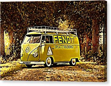 Builders Bus Canvas Print