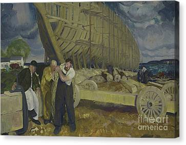 Builders Of Ships Canvas Print