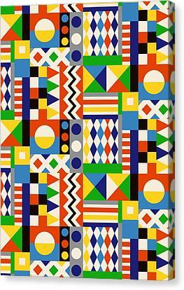 Building Block Geometric Canvas Print by Sholto Drumlanrig