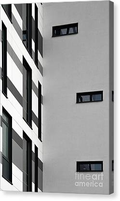 Canvas Print featuring the photograph Building Block - Black And White by Wendy Wilton