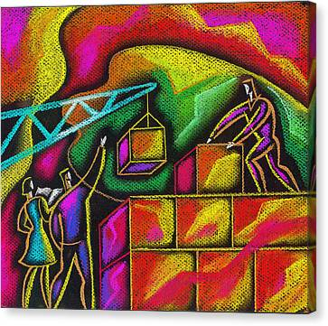 Building Blocks Of Success Canvas Print by Leon Zernitsky